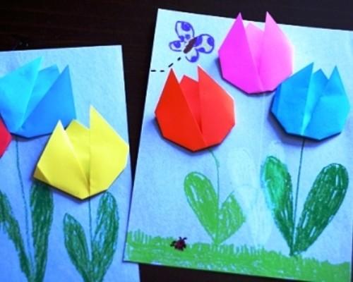 Открытка для мамы оригами на день матери